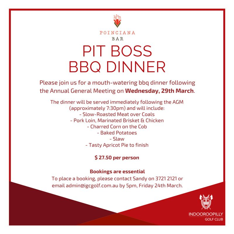 annual general meeting dinner invitation indooroopilly golf